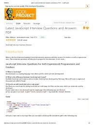 latest javascript interview questions and answers pdf