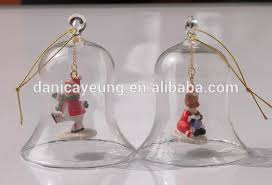clear glass glass bell shaped ornaments for