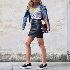 style ideas how to style a leather skirt ideas popsugar fashion