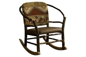 Accent Rocking Chairs Rustic Hickory Twig Hoop Rocking Chair