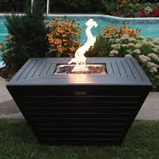 Linear Fire Pit by Premium Aluminum Fire Table Sunset Fire Pits