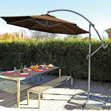 Cantilever Patio Umbrella With Base Offset Patio Umbrella Base Offset Patio Umbrella Mocha