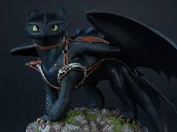 train dragon 2 toothless statue bigbadtoystore