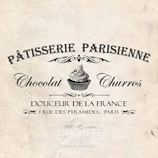 vintage french water decal patisserie advert 077 shabby chic