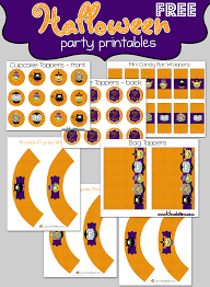 free printable halloween cupcake toppers halloween party printables
