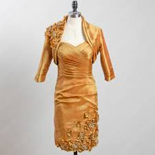 aliexpress com buy gold mother of the bride dresses with jacket