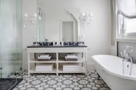 Moroccan Bathroom Ideas And Gray Moroccan Floor Tiles Transitional Bathroom