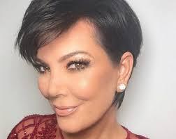 kris jenner haircut kim kardashian shows off kris jenner s seriously dramatic hairover