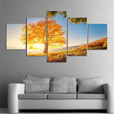 unframed 5 pcs gold montreal tree scenery paintings fashion unframed 5 pcs gold montreal tree scenery paintings fashion pictures on canvas home decor wall painting 5 piece wall art picture in painting calligraphy