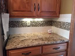 Tiles Backsplash Kitchen Interior Kitchen Subway Tile Backsplash With Mosaic Deco Band