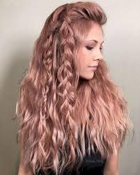 rose gold hair color metallic rose gold hair color tuku oke
