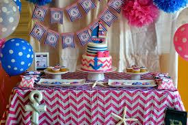 girl birthday ideas pink blue nautical girl party birthday party ideas themes