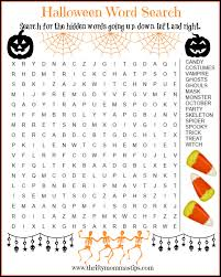 french halloween printables fun word searches to print activity shelter easy word search kids