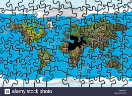 North Africa Middle East Map by World Puzzle With Missing Piece In The Middle East And North