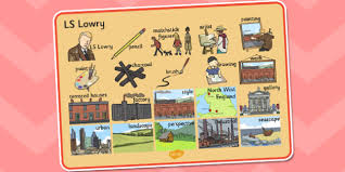 themed ls ls lowry word mat ls lowry lowry word mat topic words