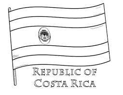 Free Costa Rica Flag Coloring Page Flag Color Page
