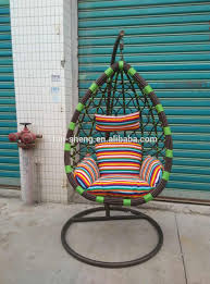 Living Room Jhula Patio Furniture Rattan Hanging Swing Jhula Swings Basket Egg