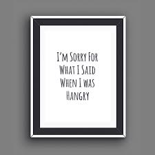 printable recovery quotes foodie gifts hangry food quotes foodie prints hungry