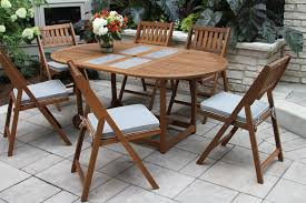 Outdoor Table Set by Eucalyptus Hardwood Furniture From Outdoor Interiors