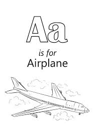 letter airplane coloring printables education
