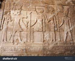 ancient egyptian gods engraved stone wall stock photo 354446477 ancient egyptian gods engraved in the stone wall of the temple of sobek