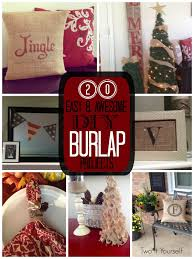 two it yourself 20 diy burlap ideas for the love of all things