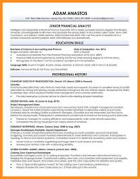 Sample Resume For Financial Analyst Entry Level by Sample Resume Format For Fresh Graduates Two Page Format 22