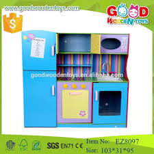 2017 new design pretend play kids wood kitchen furniture toys