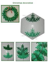 perler people diy christmas hama perler wreath pattern jul