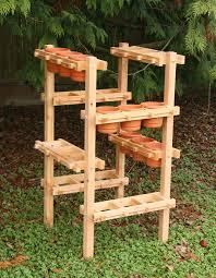 Urban Herb Garden Ideas - handcrafted wood vertical and hanging planter frames urban