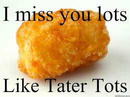 Miss You Meme - i miss you lots like tater tots tater tots quickmeme