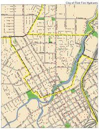Flint Michigan Map by Fall 2015 Fire Hydrant Flushing Maps U2013 City Of Flint