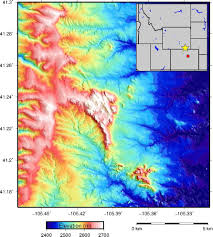 Colorado Elevation Map by Making A Hill Shade Elevation Map Brady Flinchum