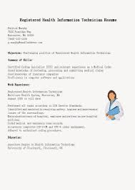 Great Sample Resumes by Health Information Technician Cover Letter