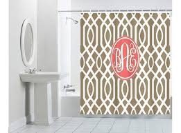 monogram shower curtain and plus hotel collection shower curtain