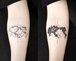 World Map Tattoo by World Map Worldmaptattoo Touchuptattoo Blacktattoo Tattoo