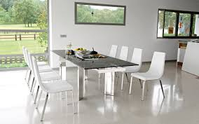 the contemporary tower extendable glass table made by calligaris