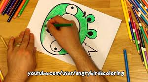 angry birds coloring pages king pig youtube