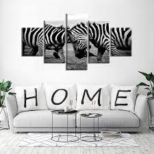 wildlife home decor black and white gray zebras african wildlife wall art modern