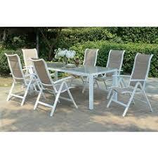 white aluminum patio table