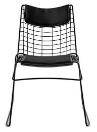 String Chair Seat Cushion For The String Chair Black By Magis