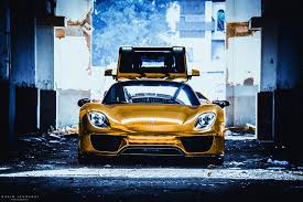 porsche 918 front images porsche 918 spyder gold color cars front