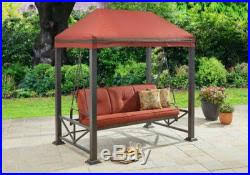 outdoor swings for adults with canopy chair 3 person gazebos porch