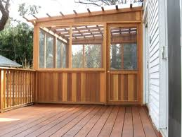 wonderful screened in porch and deck idea front decking materials