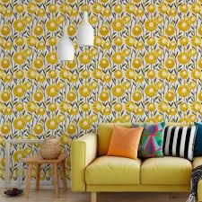 Famosos Papel de Parede Flores Douradas - Modelo Exclusivo   BemColar #HW85