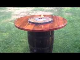 Wine Barrel Fire Pit Table by Fire Pit Table Youtube