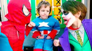 Joker Toddler Halloween Costume by The Joker Vs Captain America Vs Wolverine Vs Spiderman Real Life