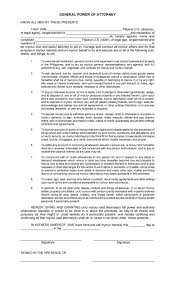 Format For General Power Of Attorney by 50 Free Power Of Attorney Forms U0026 Templates Durable Medical General