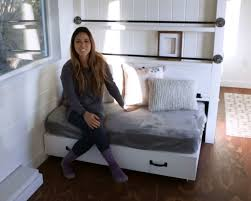 Sofa With Trundle Bed Ana White Lift Storage Bed Trundle Converts To Sofa For Tiny