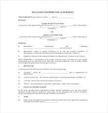 10 distribution agreement templates u2013 free sample example